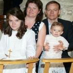 Événementiel chez Agnès et Jean-Claude : Profession de foi de Gwénaëlle et baptême de Marie-Lou