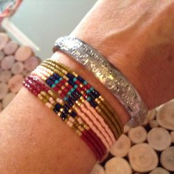 bracelets en perles créés par Florence