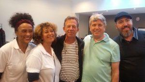David Palmer et ses confrères à l'occasion du Congrès de la FEDEFMA 2016 pour fêter les 30 ans de la chaise de massage