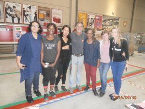 Photo des participants à l'Espace massage à la Journée Bien-être